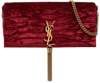 Saint Laurent Kate 99 Velvet Bag W/ Tassel