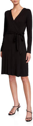 Adrianna Papell Jersey Faux-Wrap Dress