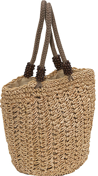 Capelli of New York Crochet Cornhusk Bag