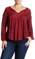 Jessica Simpson Embroidered Blouse (Plus Size)