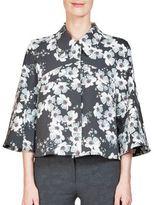 Erdem Sukie Cropped Floral-Print Jacket