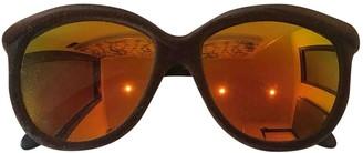 Italia Independent Brown Plastic Sunglasses