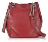 Karl Lagerfeld Women's Red Leather Shoulder Bag.