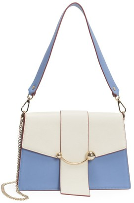 Strathberry Crescent Bi-Color Leather Shoulder Bag