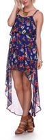 Stanzino Royal & Red Floral Hi-Low Dress