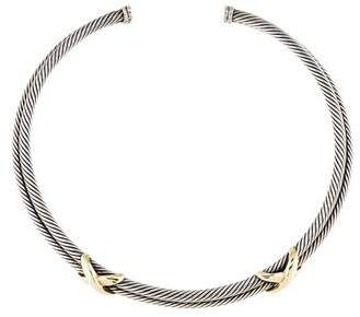 David Yurman Double X Collar Necklace