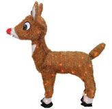 Asstd National Brand 26 Pre-Lit Rudolph The Red-Nosed Reindeer Yard Art with Clear Lights