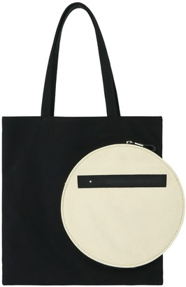 Make What You Will Black Square Tote With White Canvas Pocket