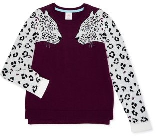 Wonder Nation Girls Embellished Pullover Sweater, Sizes 4-18 & Plus