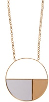 Aurelie Bidermann Bianca mirrored yellow gold-plated long necklace