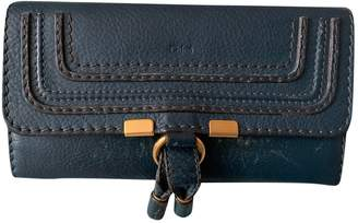 Chloé Marcie Navy Leather Wallets