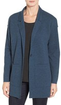 Eileen Fisher Women's Double Knit Merino Wool Sweater Jacket
