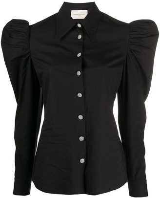 Giuseppe di Morabito Embellished Ruched Sleeve Shirt