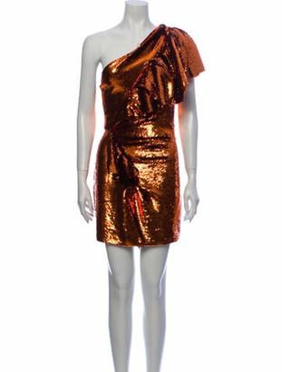 Alexandre Vauthier One-Shoulder Mini Dress w/ Tags Orange