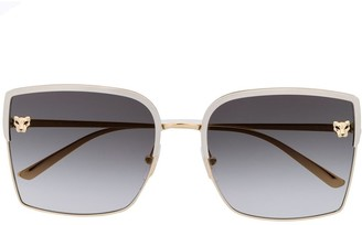 Cartier Panthere de square-frame sunglasses