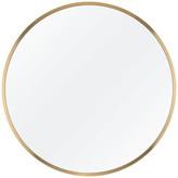 "M.O.D. Alan Round Bathroom Mirror, Brushed Brass, 29"""