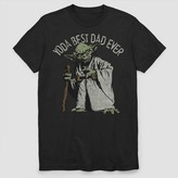 Star Wars Men' tar War Yoda Bet Dad Ever hort leeve Graphic T-hirt -