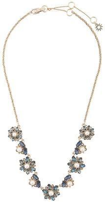 Marchesa Embellished Flower Necklace