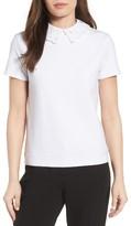 Women's Halogen Eyelet Collar Sweatshirt