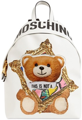 Moschino TEDDY FAUX LEATHER BACKPACK