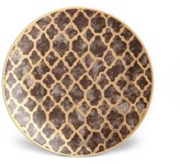 L'OBJET 4-Piece Fortuny Ashanti Earthenware 24K Gold-Finish Dessert Plates