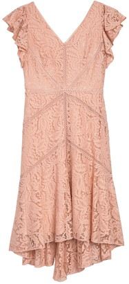 Taylor Stretch Lace Flutter Sleeve Dress