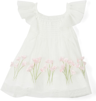 Biscotti Girls' Special Occasion Dresses IVORY - Ivory Spring Garden Smocked Dress - Infant & Toddler