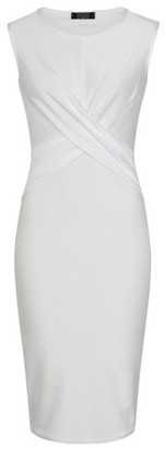 Dorothy Perkins Womens *Girls On Film White Ribbed Bodycon Dress, White