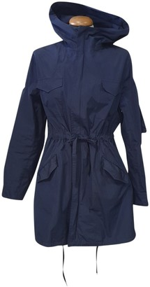 P.A.R.O.S.H. Blue Trench Coat for Women