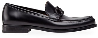 Salvatore Ferragamo Rolo 10 Leather Loafers
