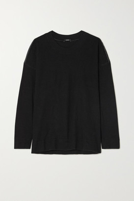 Bassike Waffle-knit Cotton Top - Black