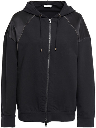 Brunello Cucinelli Bead-embellished French Cotton-blend Terry Track Jacket