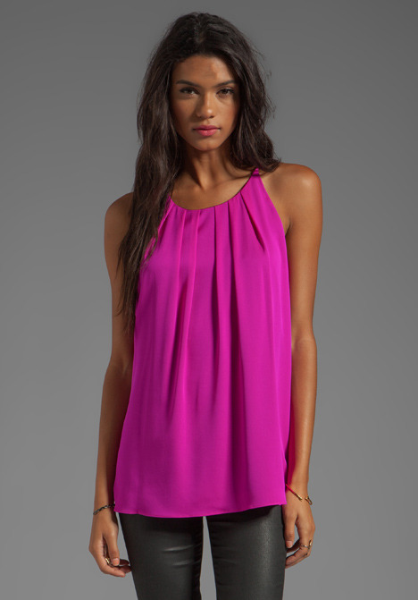 Milly Stretch Silk Crepe Gwen Fly-Away Tank