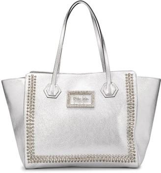 Philipp Plein Crystal Logo Plaque Tote Bag