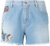 Ermanno Scervino flora embellished shorts - women - Cotton - 36