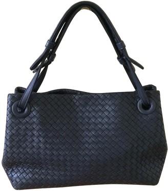 Bottega Veneta Garda Navy Leather Handbags