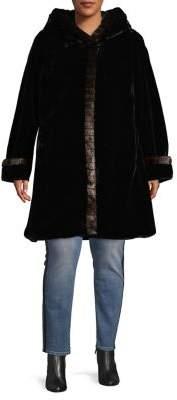 Gallery Plus Hooded Faux-Fur Coat