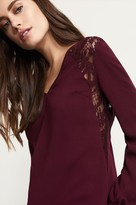Dynamite Long Sleeve Tunic With Lace