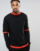 Asos Sweater with Double Sleeve in Cotton