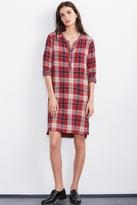 Nixie Double Face Plaid Shirt Dress