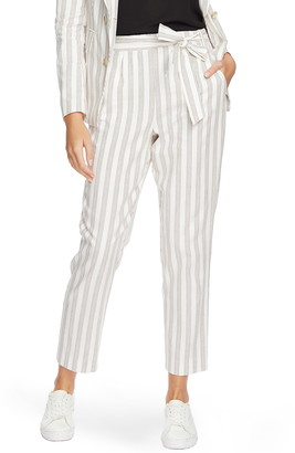 1 STATE Duet Modern Stripe Tie Waist Pants