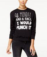 Hybrid Juniors' Monday Graphic Sweatshirt