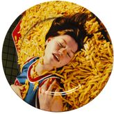 Seletti Wears Toilet Paper French Fries Printed Porcelain Dish