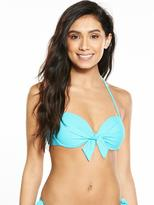 Very Bow Front Underwired Bikini Top - Blue