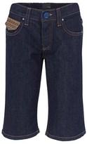 Fendi Denim Branded Bermuda Shorts