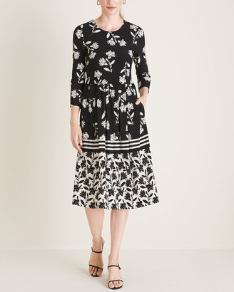 Eliza J A-Line Midi Dress