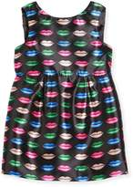 Milly Minis Kiss-Print Shift Dress, Size 4-7