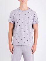 Derek Rose Leaf-print cotton-jersey T-shirt