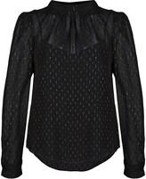 Veronica Beard metallic print blouse