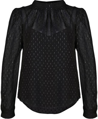 Veronica Beard Metallic Print Blouse